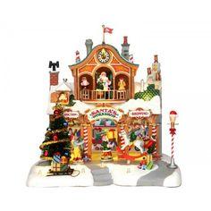 Lemax Santa's workshop, Werkplaats van de kerstman. Felinaworld.com
