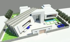 Aerial perspective—front: houses by koncept architects & interior designers, Mansions, Interior Design, Architecture, House Styles, Outdoor Decor, Design Ideas, Inspiration, Inspired, Photos