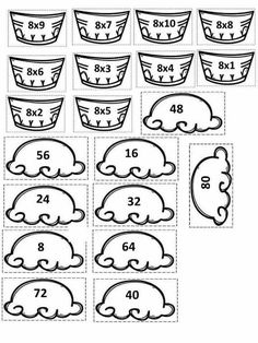 Free printable shapes worksheets for toddlers and preschoole Multiplication Activities, Numeracy, Math Games, Math Activities, Math For Kids, Fun Math, Printable Shapes, Free Printable, Shapes Worksheets