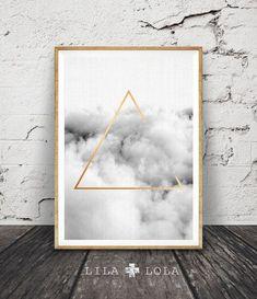 Minimalistische geometrische Wandkunst Cloud Print von LILAxLOLA