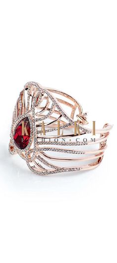 Buy Online from the link below http://www.kalkifashion.com/high-shine-ruby-cuff.html