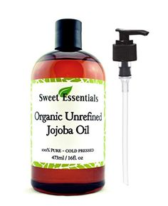 Premium Organic Unrefined Jojoba Oil  16oz With Pump  Imported From Argentina  100 Pure  Cold Pressed  For Hair Skin  Nails  Best Natural Moisturizer  Hexane Free >>> Check out this great product. (Note:Amazon affiliate link)