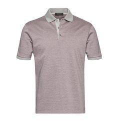 Zegna Pink Cotton Macro-Pattern Shirt