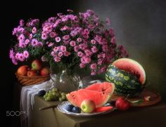 Still life with flowers and fruit by Tatiana Skorokhod on 500px