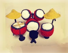 This adorable amigurumi drum set makes a wonderful gift! Make it with Vanna's Choice!