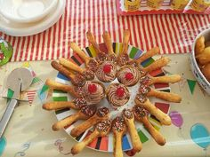 Spoons with chocolate and sprinkles
