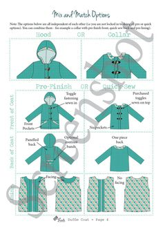 PATTERN Duffle Coat Unisex Boys Girls Coat PDF by TadahPatterns Coat Pattern Sewing, Coat Patterns, Sewing Patterns, Tadah Patterns, Girls Winter Jackets, Blanket Coat, Kids Coats, Cute Outfits For Kids, Sewing For Kids