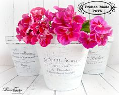 DIY - French Made Pots With Waterslide Decals