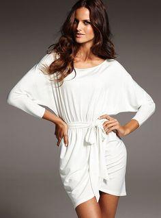 Dolman-sleve Dress