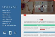 Simply.Me - Personal Portfolio by FWPolice on @creativemarket