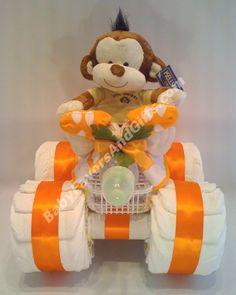 4-Wheeler Diaper Cake http://babyfavorsandgifts.com/diaper-cakes-baby-boy-c-3_21.html