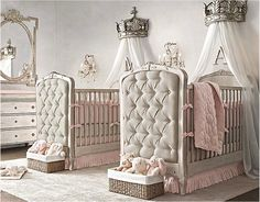 RH Baby & Child's Girl Nursery Collections:Shop baby cribs at Restoration Hardware Baby & Child. All cribs convert to toddler beds and are JPMA-certified to comply with the most rigorous safety standards. Nursery Twins, Nursery Room, Nursery Decor, Nursery Ideas, Themed Nursery, Nursery Themes, Nursery Inspiration, Nursery Design, Travel Inspiration
