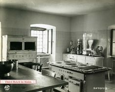 A 1945 view of the kitchen at Berghof
