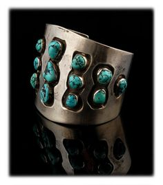 Vintage Wide Timberline Turquoise Cuff Bracelet