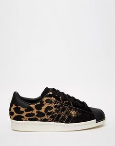 Image 1 of adidas Originals Superstar 80's Ombre Animal Print Sneakers