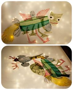 """Frog in a pocket: """"The Mixed-up Chameleon"""" by Eric Carle - light box activity"""