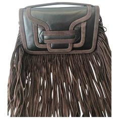 PIERRE HARDY \N BROWN LEATHER CLUTCH BAG. #pierrehardy #bags #leather #clutch #hand bags Pierre Hardy, Leather Clutch Bags, Hand Bags, Brown Leather, Women, Style, Leather Bum Bags, Swag, Handbags