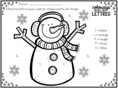 GRATUIT! Free FRENCH Winter colour by letter sheets Winter Art, Winter Colors, Winter Theme, French Worksheets, Letter Worksheets, French Language Lessons, French Language Learning, French Teaching Resources, Teaching French