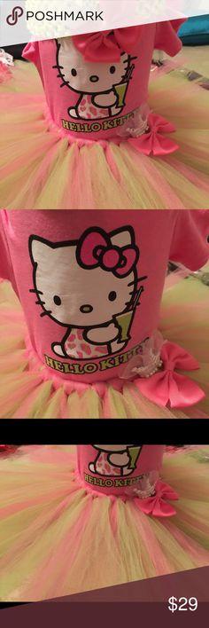 Selling this NWOT 3 Piece Hello Kitty Tutu Set Size 6-9M on Poshmark! My username is: ankpretties. #shopmycloset #poshmark #fashion #shopping #style #forsale #Hello Kitty #Other