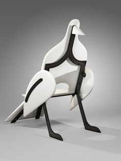 François-Xavier Lanane Oiseau de marbre, a marble and painted wrought iron armchair, The initial edition was supposed to be composed of 12 of each 5 models, but it was never finished. Unique Furniture, Wood Furniture, Furniture Design, Home Deco, Francois Xavier, Fine Art Auctions, Woodworking Joints, Take A Seat, Chair Design