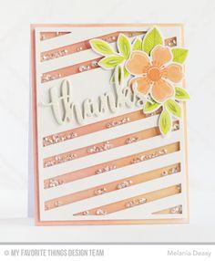 Flashy Florals Card Kit - Melania Deasy  #mftstamps