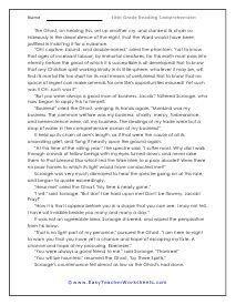 Grade 9 Reading Comprehension Worksheets | Reading ...