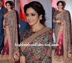 sridevi in sabyasachi at yash chopra awards-2