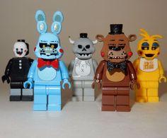 X5 New Lego Custom Printed Fnaf Five Nights at Freddy's Minifigure Lot | eBay