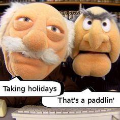 Good Game Facebook page trolling regulars Waldorf and Statler.