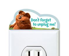 """Armbruster free printable """"Lorax"""" Don't forget to unplug me outlet topper by HP Free Printable Cards, Free Printables, Dr Seuss, Dont Forget Me, The Lorax, Gift Tags, Coloring Pages, Label, Science"""