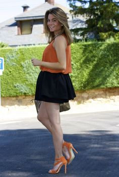 Ecstasy Models • Orange + Black   Llevo : Skirt-Short /...