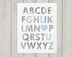 Alphabet nursery art alphabet nursery decor by dimensionsofwonder Alphabet Nursery, Alphabet Print, Nursery Art, Nursery Decor, Girl Nursery, Nursery Ideas, Red Nursery, Wall Decor, Nursery Inspiration