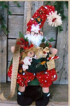 elf pattern cloth doll