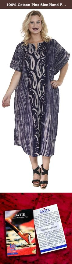 """100% Cotton Plus Size Hand Paint Long Lounge Wear Caftan Women Kimono Navy Blue Valentines Day Gifts 2017. Description:- ==> Welcome to LA LEELA ==> Enjoy Beach, Breeze and Nature with La Leela's """"VIBRANT BEACH COLLECTION"""" and stay calm and classy! . ==> Fabric : 100% COTTON HAND MADE BATIK PRODUCT INDIVIDUALLY MADE AND IS UNIQUE US Size : From Regular 14 (L) TO Plus Size 18W (2X) ➤ UK SIZE : FROM REGULAR 14 (M) TO 22 (XL) ➤ BUST : 46 Inches [ 116 cms ]➤ Length : 66 Inches [ 167 cms ] ==>..."""