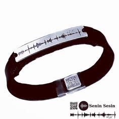Tekrar dinlenebilir gerçek ses dalgaları ile yapılır. Dokunaklı bir hediye için, #sesbileklik #babalargünü #hediye si #aile Personalized Fathers Day Gifts, Personalized Jewelry, Unique Gifts For Men, Gifts For Mom, Sound Wave Bracelet, Engraved Leather Bracelets, Mom Jewelry, Jewelery, Sound Waves