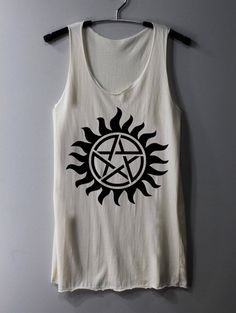 Supernatural Tattoo Shirt Series Movie Shirt Tank Top Tunic TShirt T Shirt Singlet - Size S M L
