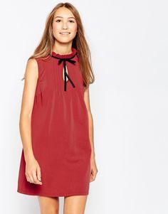 Influence Sleeveless High Neck Pleat Front Dress