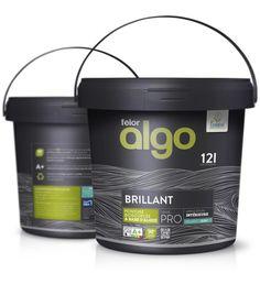 Food Packaging Design, Packaging Design Inspiration, Brand Packaging, Branding Design, Plastic Pail, Painting Logo, Paint Buckets, Office Branding, Paint Brands