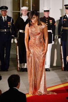 Michelle Obama Wears Versace For Final State Dinner | British Vogue