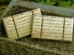 French Script Wooden Soap Dish