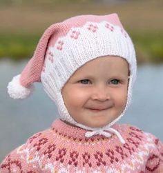 Gullet genser & duskelue | Sparkjøp Strikkeblogg Knitted Hats, Crochet Hats, Baby Barn, Knit Art, Kids And Parenting, Diy And Crafts, Winter Hats, Knitting, Blog