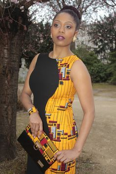 Adjoua Yellow African Inspired Fashion, African Dresses For Women, African Print Dresses, African Print Fashion, Africa Fashion, African Attire, African Wear, African Fashion Dresses, African Women