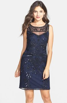 Free shipping and returns on Pisarro Nights Embellished Sheath Dress at Nordstrom.com. Pisarro Nights' ornate signature beading and after-hours sparkle blossoms on this illusion-yoke cocktail dress.