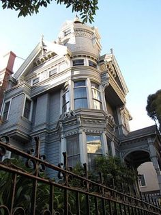 Historic homes in Pacific Heights, S.F.