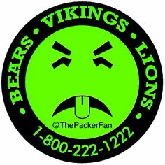 thepackerfan If the Bears, Vikings and Lions make you sick. Induce vomiting and call the number below and seek medical attention immediately. #gopackgo #packers #greenandgold #cheesehead #teamgreenbay #thepackerfan #boredsunday #makingcooldesigns #mryuck