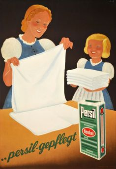 1939 Persil Laundry, maintain...Swiss vintage advert poster