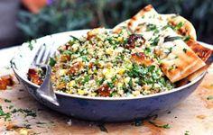 Chili Honey Glazed Halloumi Couscous Salad