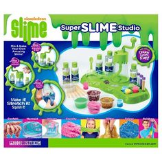 Nickelodeon Super Slime Studio by Cra-Z-Art Craft Kits For Kids, Diy Crafts For Kids, Activities For Kids, Custom Window Clings, Maker Labs, Mermaid Slime, Galaxy Slime, Homemade Slime, Save On Crafts