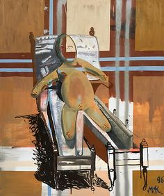 Martin Kippenberger,  Untitled (Sick Egg Child), 1996 oil an lacquer on canvas 70.87 x 59.06 inches (180 x 150 cm)