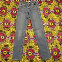 "The A&F Super Skinny straight leg jeans The A&F Super Skinny straight leg jeans by Abercrombie and Fitch light blue stonewashed straight leg waist: 25"" L 31""  stretch denim 95% cotton 5% spandex Abercrombie & Fitch Jeans Skinny"